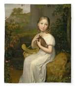 Portrait Of Countess Louise Bose As A Child Fleece Blanket