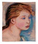 Portrait Of  Country Girl Fleece Blanket