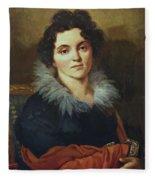 Portrait Of Darya Nikolaevna Chvostova 1814 Fleece Blanket