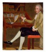 Portrait Of David Baldwin 1790 Fleece Blanket