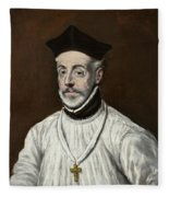 Portrait Of Diego De Covarrubias Y Leiva Fleece Blanket