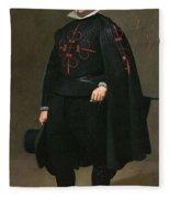 Portrait Of Don Pedro De Barberana Diego Rodriguez De Silva Y Velazquez Fleece Blanket
