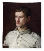Portrait Of Douglass Morgan Hall Fleece Blanket