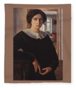 Portrait Of E K Lansere Zinaida Serebryakova Fleece Blanket