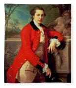 Portrait Of Edmund Rolfe Fleece Blanket