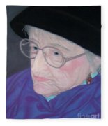 Portrait Of Elizabeth Fleece Blanket