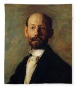 Portrait Of Frank B A Linton 1904 Fleece Blanket