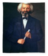 Portrait Of Frederick Douglass Fleece Blanket