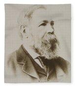 Portrait Of Friedrich Engels Fleece Blanket