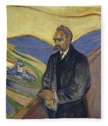 Portrait Of Friedrich Nietzsche Fleece Blanket