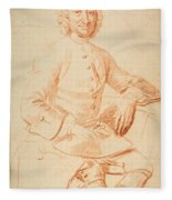 Portrait Of George Graham   Fleece Blanket