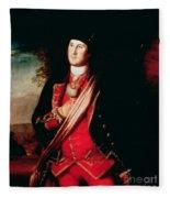 Portrait Of George Washington Fleece Blanket