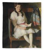 Portrait Of Gertrude Russell Fleece Blanket