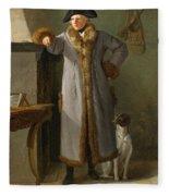 Portrait Of Gottlieb Christian Heigelen As A Hunter Fleece Blanket