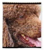 Portrait Of Guinness Fleece Blanket