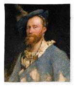 Portrait Of Gustave Courtois Fleece Blanket
