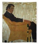 Portrait Of Hans Massmann Fleece Blanket