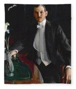 Portrait Of Harald Bildt Fleece Blanket