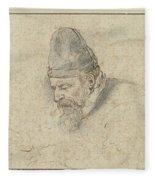 Portrait Of Henry Avercamp Fleece Blanket