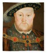 Portrait Of Henry Viii Fleece Blanket