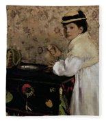 Portrait Of Hortense Valpincon As A Child Fleece Blanket