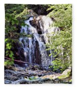 Portrait Of Houston Brook Falls Fleece Blanket