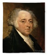 Portrait Of John Adams Fleece Blanket