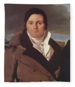 Portrait Of Joseph Antoine Moltedo Fleece Blanket