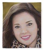Portrait Of Kaitlyn Fleece Blanket