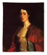 Portrait Of Katherine Cecil Sanford Fleece Blanket