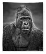 Portrait Of King Kongs Cousin IIi Fleece Blanket
