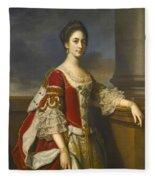 Portrait Of Lady Elizabeth Compton Later Countess Of Burlington Fleece Blanket