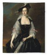 Portrait Of Lady Frances Courtenay Fleece Blanket