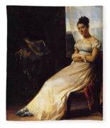 Portrait Of Laura Bro 1820 Fleece Blanket