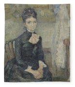 Portrait Of Leonie Rose Charbuy-davy Paris  March  April 1887 Vincent Van Gogh 1853  1890 Fleece Blanket