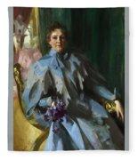 Portrait Of Lilly Eberhard Anheuser Anders Zorn Fleece Blanket