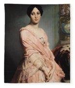 Portrait Of Madame F Fleece Blanket