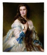 Portrait Of Madame Rimsky Korsakov Fleece Blanket
