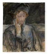 Portrait Of Maria Bal Fleece Blanket