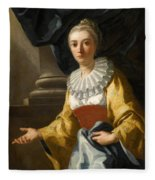 Portrait Of Maria Cavalcanti Ametrano Duchess Of San Donato Fleece Blanket