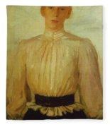 Portrait Of Maria Tolstaya Leo Tolstoy Daughter Fleece Blanket