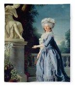 Portrait Of Marie-louise Victoire De France Fleece Blanket