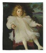 Portrait Of Marjorie Coldwell Westinghouse  Fleece Blanket