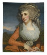 Portrait Of Mary Livius Fleece Blanket