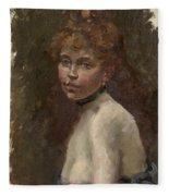 Portrait Of Mery Laurent Fleece Blanket