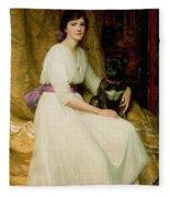 Portrait Of Miss Dorothy Dicksee  Fleece Blanket