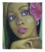 Portrait Of Monica Fleece Blanket