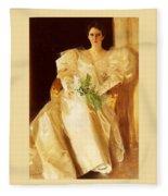 Portrait Of Mrs Eben Richards Anders Zorn Fleece Blanket