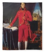 Portrait Of Napolan Bonaparte The First Council 1804 Fleece Blanket