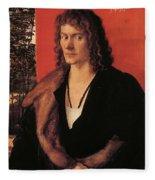 Portrait Of Oswolt Krel 1499 Fleece Blanket
